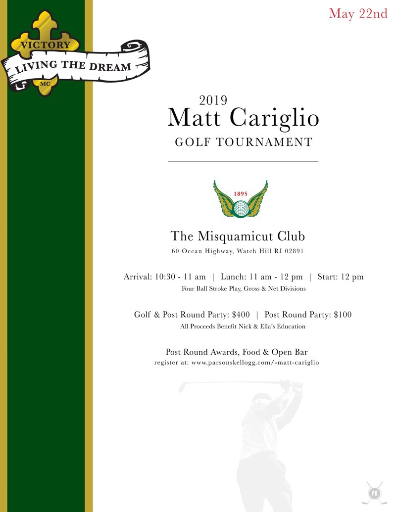 2019 Matt Cariglio Tournament Flyer